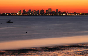 View of Boston from Swampscott