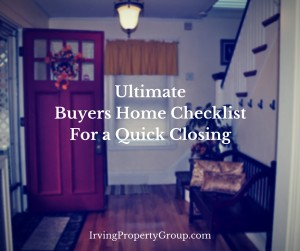 Home Buyers Checklist