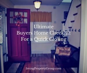 Home Buyers Checklist