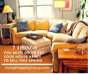 7 things to do to sell this spring