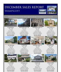 December Sales Report Swampscott and Marblehead